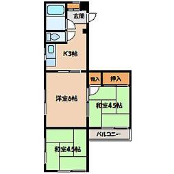 サンモール相模[2階]の間取り