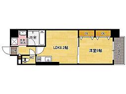 JR香椎線 舞松原駅 徒歩10分の賃貸マンション 5階1LDKの間取り