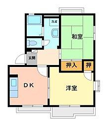 ボナール1番館[2階]の間取り