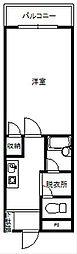秋桜[304号室]の間取り