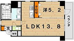 LE GRAND BLEU QUATRE(グランブルーキャト[4階]の間取り