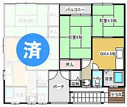 生活保護支援住宅 リフォーム済 駐車場有  グリーンコーポ[103号室]の間取り