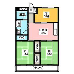 福岡県福岡市南区筑紫丘2丁目の賃貸マンションの間取り