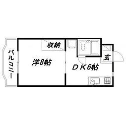 静岡県浜松市東区半田山1丁目の賃貸マンションの間取り