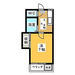 藤本ハイツ[2階]の間取り