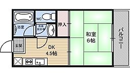 サンフラッツ新大阪別館[101号室]の間取り