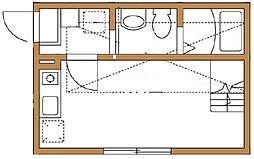 ハーミットクラブハウスパール[2階]の間取り