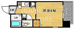 エステムコート京都河原町プレジール[802号室号室]の間取り