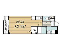 京成本線 公津の杜駅 徒歩19分の賃貸マンション 1階ワンルームの間取り