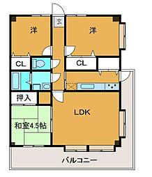 バルール町田[4階]の間取り