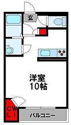 レオネクストパストラーレ横田 1階1Kの間取り