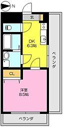 タケダビル2[401号室]の間取り