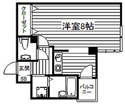 エクセレント和泉町[6階]の間取り