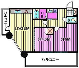 オーベルジュ並木[4階]の間取り