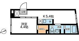 コンポジット早稲田 3階1Kの間取り