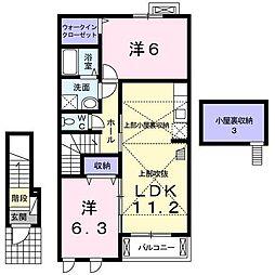 ユニゾン・ベル[2階]の間取り