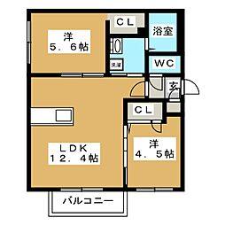 Ritz GRANDE厚別中央[1階]の間取り
