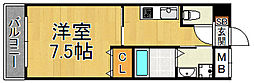 モレス・ヴィラ尼崎 2階1Kの間取り