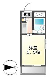 ドール呼続[4階]の間取り