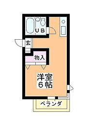 ステーションヴィラ鶴ヶ島[221号室]の間取り