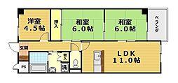 インペリアル明日香[5階]の間取り