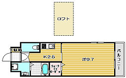 大阪府高槻市神内2丁目の賃貸マンションの間取り