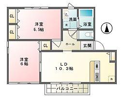 ラ・フラールI[1階]の間取り