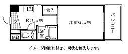 シャルマン三篠--[403号室]の間取り