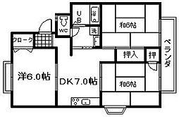 セラヒム24[1階]の間取り