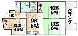 第9岡部ビル[8階]の間取り