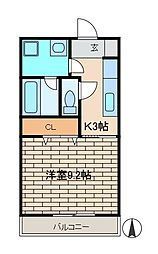カスターニャ[1階]の間取り