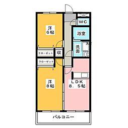 エターナル小幡[3階]の間取り