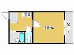 JR加古川線 社町駅 バス18分 松沢下車 徒歩4分の賃貸マンション 1階1Kの間取り
