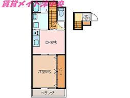 三重県津市西丸之内の賃貸アパートの間取り