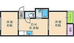 ハイツ浮田[5階]の間取り