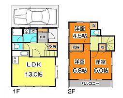 [一戸建] 東京都東久留米市中央町1丁目 の賃貸【東京都 / 東久留米市】の間取り