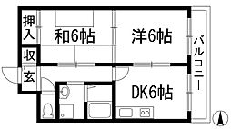 第3メゾン三裕[3階]の間取り