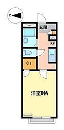 レオパレスウエストスプリングII[2階]の間取り