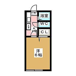モアクレスト鷺ヶ森[1階]の間取り