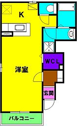 静岡県磐田市岡の賃貸アパートの間取り
