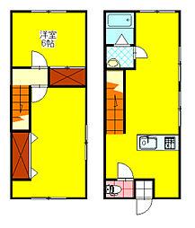 ロングハウス[3号室]の間取り