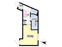 西武池袋線 秋津駅 徒歩3分の賃貸アパート 1階1Kの間取り
