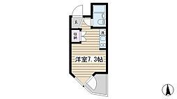コモド駒込ハイツ[201号室]の間取り