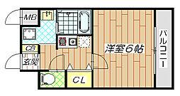 GOOD LIFE 岩田[6階]の間取り
