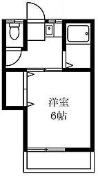 東京都世田谷区奥沢7丁目の賃貸アパートの間取り