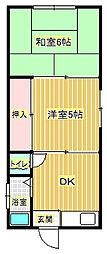 谷口荘[2階]の間取り