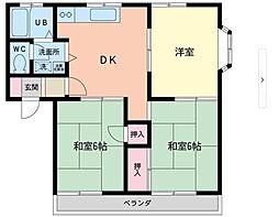 アパートメントヒロ[202号室]の間取り