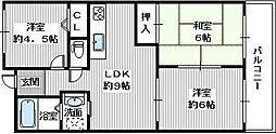 茱萸木壱番館[305号室]の間取り