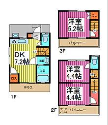 [一戸建] 埼玉県川口市芝富士2丁目 の賃貸【/】の間取り