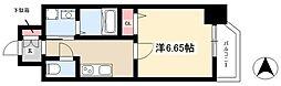 第18金山フクマルビル 7階1Kの間取り